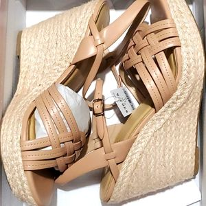 Womens Natural wedge Sandals